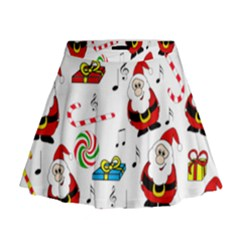 Xmas Song Mini Flare Skirt by Valentinaart