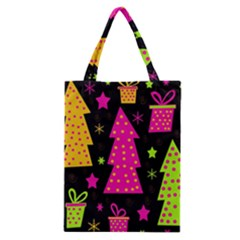 Colorful Xmas Classic Tote Bag by Valentinaart