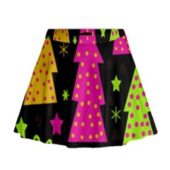 Colorful Xmas Mini Flare Skirt by Valentinaart