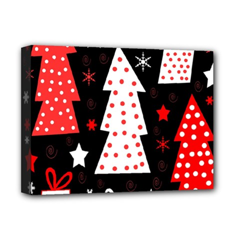 Red Playful Xmas Deluxe Canvas 16  X 12   by Valentinaart