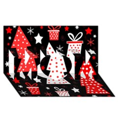 Red Playful Xmas Mom 3d Greeting Card (8x4) by Valentinaart