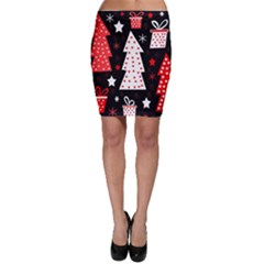 Red Playful Xmas Bodycon Skirt by Valentinaart