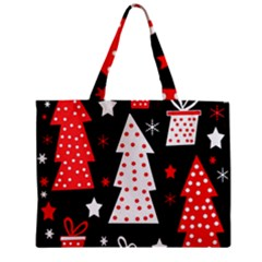 Red Playful Xmas Zipper Mini Tote Bag by Valentinaart