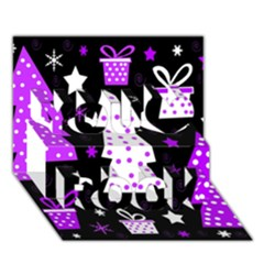 Purple Playful Xmas You Rock 3d Greeting Card (7x5) by Valentinaart