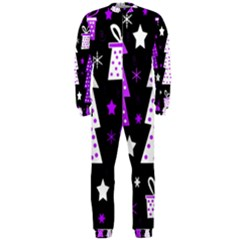 Purple Playful Xmas Onepiece Jumpsuit (men)  by Valentinaart