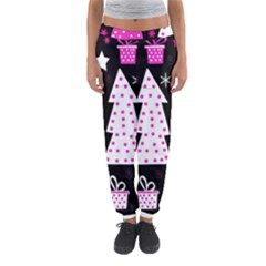Pink Playful Xmas Women s Jogger Sweatpants by Valentinaart