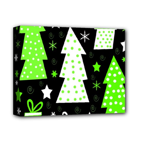 Green Playful Xmas Deluxe Canvas 14  X 11  by Valentinaart