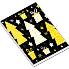 Yellow Playful Xmas Large Memo Pads by Valentinaart