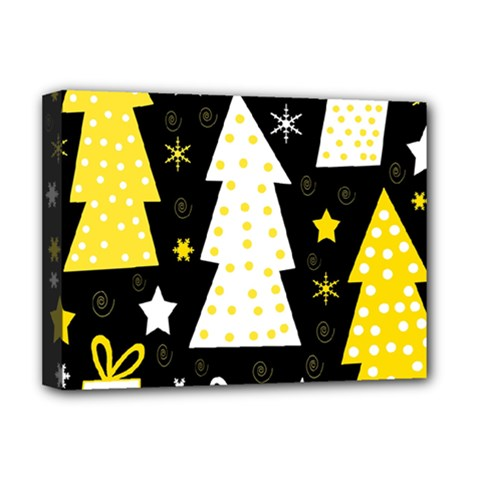 Yellow Playful Xmas Deluxe Canvas 16  X 12   by Valentinaart