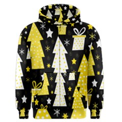 Yellow Playful Xmas Men s Zipper Hoodie by Valentinaart