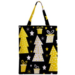Yellow Playful Xmas Zipper Classic Tote Bag by Valentinaart