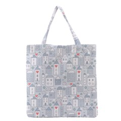 Houses Pattern Grocery Tote Bag by Mishacat
