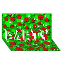 Xmas Flowers Party 3d Greeting Card (8x4) by Valentinaart