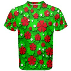 Xmas Flowers Men s Cotton Tee