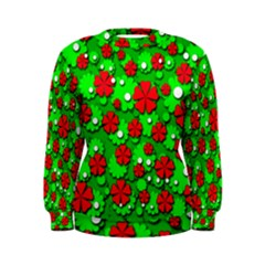Xmas Flowers Women s Sweatshirt by Valentinaart