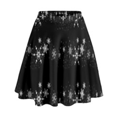 Black Elegant  Xmas Design High Waist Skirt by Valentinaart