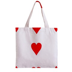 Cart Heart 03 Tre Cuori Zipper Grocery Tote Bag by AnjaniArt
