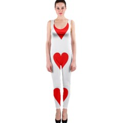 Cart Heart 03 Tre Cuori Onepiece Catsuit by AnjaniArt