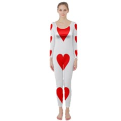 Cart Heart 03 Tre Cuori Long Sleeve Catsuit by AnjaniArt