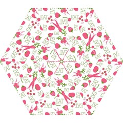 Eat Pattern Tomato Cerry Friute Mini Folding Umbrellas by AnjaniArt