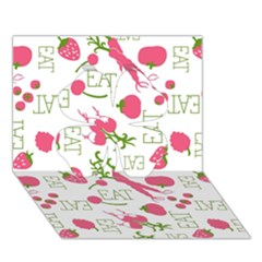 Eat Pattern Tomato Cerry Friute Clover 3d Greeting Card (7x5)