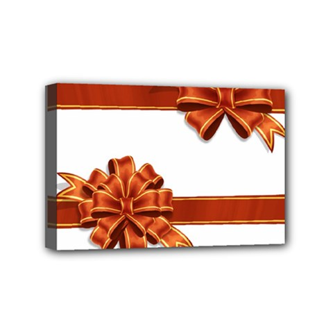 Gift Ribbons Mini Canvas 6  X 4