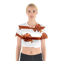 Gift Ribbons Cotton Crop Top by AnjaniArt