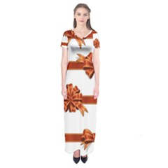 Gift Ribbons Short Sleeve Maxi Dress by AnjaniArt