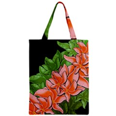 Decorative Flowers Zipper Classic Tote Bag by Valentinaart