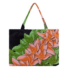 Decorative Flowers Medium Tote Bag by Valentinaart