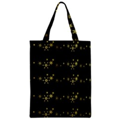 Yellow Elegant Xmas Snowflakes Zipper Classic Tote Bag by Valentinaart