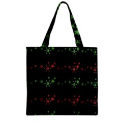Decorative Xmas Snowflakes Grocery Tote Bag by Valentinaart