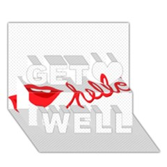 Hello Lip Red Sexy Get Well 3d Greeting Card (7x5)