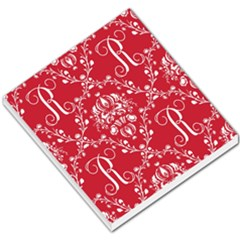 Initial Damask Red Paper Small Memo Pads by AnjaniArt
