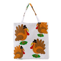 Thanksgiving Turkeys Grocery Tote Bag by Valentinaart