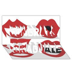 Lip Sexy Red Congrats Graduate 3d Greeting Card (8x4) by AnjaniArt