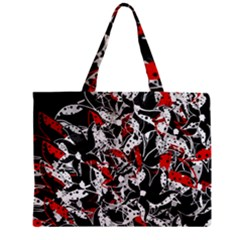 Red Abstract Flowers Mini Tote Bag by Valentinaart
