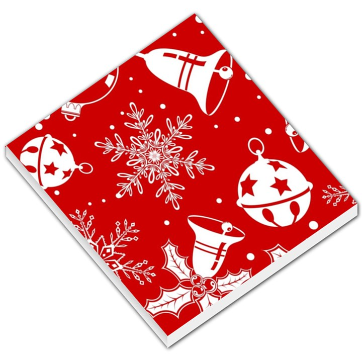 Red Winter Holiday Pattern Red Christmas Small Memo Pads