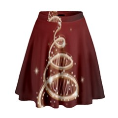 Shiny Christmas Tree High Waist Skirt