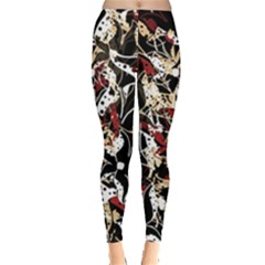 Abstract Floral Design Leggings  by Valentinaart