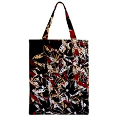Abstract Floral Design Zipper Classic Tote Bag by Valentinaart