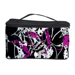 Purple Abstract Flowers Cosmetic Storage Case by Valentinaart
