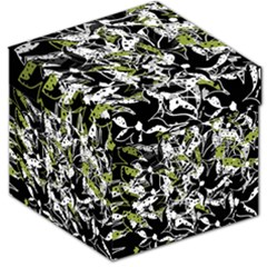 Green Floral Abstraction Storage Stool 12   by Valentinaart