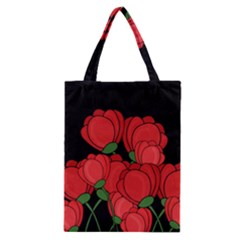 Red Tulips Classic Tote Bag by Valentinaart