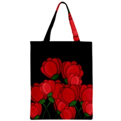 Red Tulips Zipper Classic Tote Bag by Valentinaart
