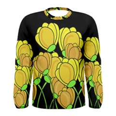 Yellow Tulips Men s Long Sleeve Tee