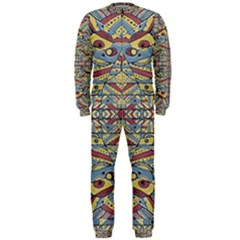 Multicolor Abstract Onepiece Jumpsuit (men)  by dflcprintsclothing