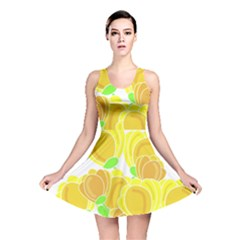 Yellow Flowers Reversible Skater Dress by Valentinaart