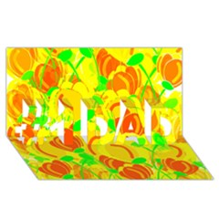 Yellow Garden #1 Dad 3d Greeting Card (8x4)