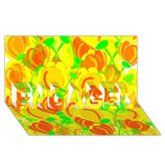Yellow Garden Engaged 3d Greeting Card (8x4) by Valentinaart